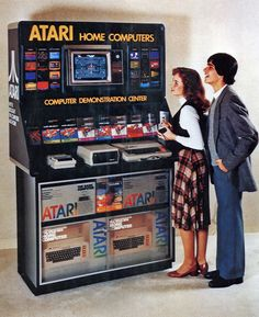 vintage Atari Home Computers demonstration centre
