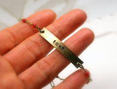Handmade gemstone beaded inspirational bracelet  by jihidesigns