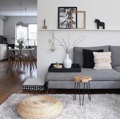 Beautiful Nordic Living Room Design Ideas 2840 - Selbermachen - Home Sweet Home Nordic Living Room, Ikea Living Room, Interior Design Living Room, Living Room Designs, Scandinavian Living, Scandinavian Interior, Small Living Rooms, Cozy Living, Living Spaces