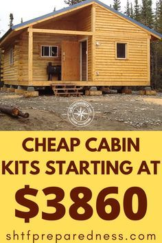 Small Log Cabin, Tiny House Cabin, Log Cabin Homes, Tiny House Living, Tiny House Design, Small House Plans, Cottage Homes, House Floor Plans, Small Cabins