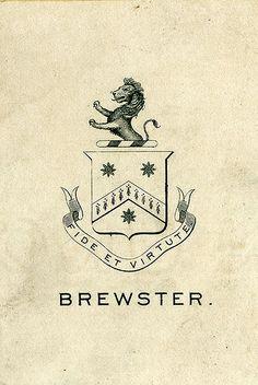 [Bookplate of Brewster] by Pratt Libraries, via Flickr | #logo #corporatedesign #corporate-identity #identity #corporate #inspiration <<< repinned by www.BlickeDeeler.de | Follow us on www.facebook.com/BlickeDeeler.de
