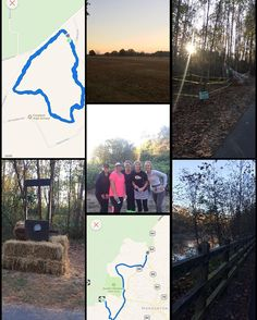 """What a beautiful morning for a run! Got in a 3 mile track run with friends then met up with other friends for another 4.5 miles of their 14 mile run through the """"haunted hay ride"""" trail.  What a blessing to have these awesome running buddies and this beautiful landscape to run through! #gooutside #wakeupandrun"""