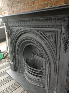 How to get rich dealing in modern art & vintage furniture Wooden Fireplace, Vintage Fireplace, Cast Iron Fireplace, Victorian Fireplace, Bedroom Fireplace, Fireplace Inserts, Fireplace Mantle, Fireplace Surrounds, Fireplace Design