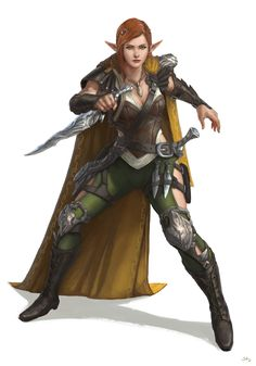 F high elf rogue assassin spy med armor claok shortswords throwing daggers artstation - rogue girl character by sam leung Female Character Concept, Fantasy Character Design, Character Inspiration, Character Art, Elf Characters, Dungeons And Dragons Characters, Fantasy Characters, Ranger Rpg, Elf Ranger