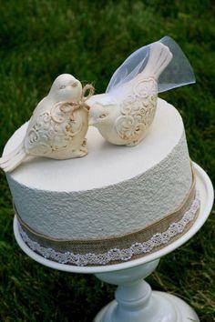 Love Birds Cake Topper / Cake Topper / Wedding Cake Topper / Rustic Bird Cake Topper