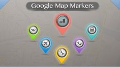 Google Map Markers PSD