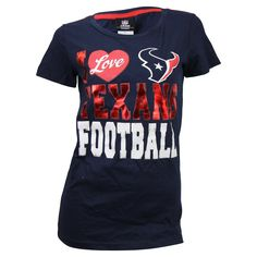 "Women's NFL ""I Love"" Football T-Shirt (Houston Texans, Small)"