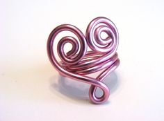 cool heart ring made with wire...