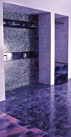 (overkill - but seriously purple!) Purple Bathrooms by Franco Pecchioli Ceramica