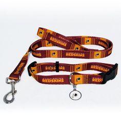 Washington Redskins NFL Dog Collar  amp  Leash Set Redskins Gear 2c4f232e8