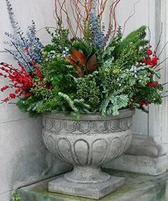 use you winter garden plants to fill empty urns