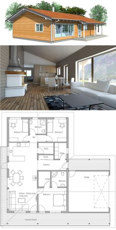 Tiny House Plans 411235009725822055 - Small Home Plan, Small House Plans, Source by Small House Floor Plans, Dream House Plans, Modern House Plans, Cottage Plan, House Blueprints, Small House Design, House Layouts, Little Houses, Building A House