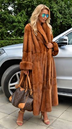 NEW Gold Swinger Royal Saga Mink FUR Coat Class OF Poncho Jacket Sable FOX Lynx | eBay