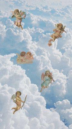 'Renaissance angels in sky Cherubs Cupid Art' by Onodera