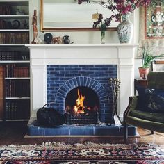 4 Magical Hacks: Fireplace Tile Stencil small fireplace dream homes.Off Center Fireplace Ideas fake electric fireplace.Limestone Fireplace Luxury Homes. Fireplace Mantle Designs, Brick Fireplace Mantles, Painted Brick Fireplaces, Paint Fireplace, Open Fireplace, Fireplace Surrounds, Fireplace Tiles, Painted Mantle, 1930s Fireplace
