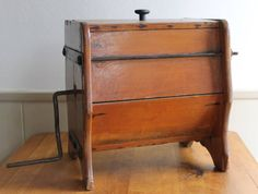 Wooden Table Top Butter Churn