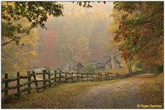 Pioneer Farm during the fall at Twin Falls State Park, Wyoming County, WV.
