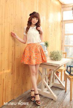 Mango Doll - Russian Doll Print Skirt, $31.00 (http://www.mangodoll.com/all-items/russian-doll-print-skirt/)