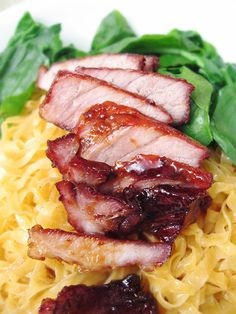 Recipe for Chinese BBQ Pork - This tasty pork dish can be used in stir-fry dishes, served with noodles, or used as a stuffing for pork buns.