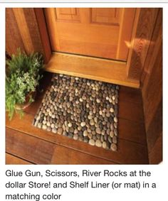 DIY Door Step Mate Made Of RocksYou can also create this!!