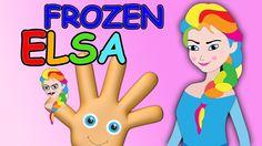 Frozen Elsa Finger Family Song Nursery Rhymes   Colorful Frozen Elsa Fin...