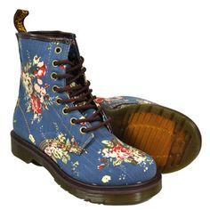 Dr Martens Castel 1460 Print Boots (Blue)