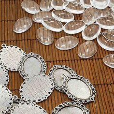 10Set Tibetan DIY Pendant Clear Circle Domed Cabochon Cover Photo Inset Gift Fit