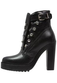 D-ZANA - High heeled ankle boots - black