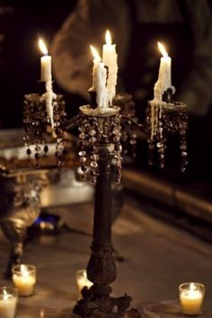 Candle light says romance...