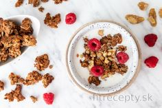 Jednoduchá banánová granola Sweet Breakfast, Buckwheat, Stevia, Tofu, Hummus, Smoothie, Cereal, Oatmeal, Food And Drink