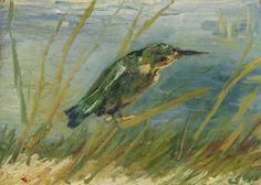 Vincent van Gogh - The Kingfisher. 19 x cm, Oil on canvas, Van Gogh Museum, Amsterdam Art Van, Van Gogh Art, Vincent Van Gogh, Van Gogh Museum, Desenhos Van Gogh, Amsterdam, Painted Vans, Van Gogh Paintings, Post Impressionism
