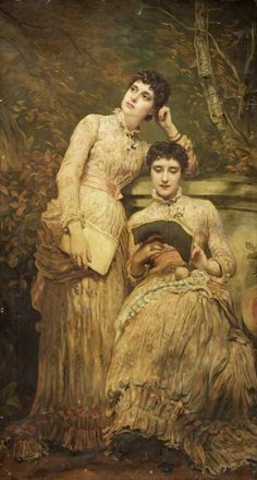 James Sant (British, 1820–1916), Ida and Ethel (twin daughters of J. Searight Esq.) (1884). Oil on canvas. Dimensions: 199,5cm x 107cm, Russell-Cotes Art Gallery and Museum, Bournemouth, UK