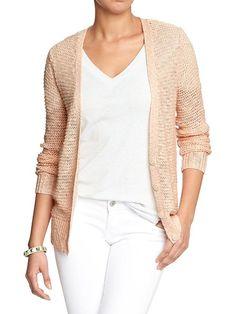 Peach / Light peach women's loose knit cardigan sweater | spring sweater, spring layering pieces, lightweight sweater / cardigan