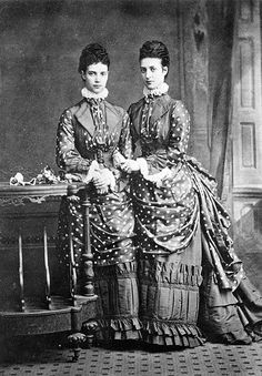 Queen Alexandra (when Princess of Wales) with her sister the Tsarina Marie Feodorovna of Russia, 1873