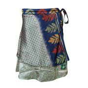 Mogul Womens Magic Wrap Skirt Printed Reversible Silk Sari Two Layer Beach Cover Up Sarong Image 1 of 2      https://www.walmart.com/search/?query=mogul%20interior%20SILK%20WRAP%20SKIRT%20&cat_id=0