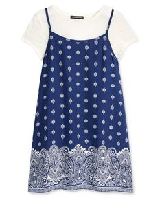 Sequin Hearts Slip Dress & T-Shirt, Big Girls (7-16) - Kids & Baby - Macy's  #Easter #Gifts #Dress #Coupons