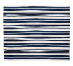 Oxford Stripe Recycled Yarn Indoor/Outdoor Rug - Blue #potterybarn #mypotterybarn