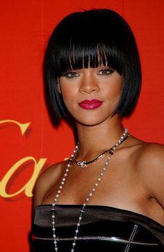 Rihanna short hair bob