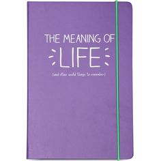 HAPPY JACKSON A5 'The Meaning Of Life' notebook ($13) ❤ liked on Polyvore featuring home, home decor, stationery, fillers, books, notebooks, journal and misc