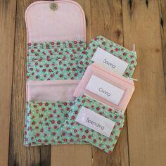 NEW! 3 envelope girl's wallet.