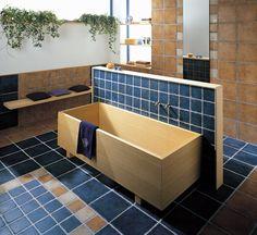 Kyrah obklady modrá a béžová / wall and floor tiling in bathroom Wall And Floor Tiles, Wall Tile, Contemporary Furniture, Best Sellers, Stoneware, My House, Relax, Flooring, Ceramics