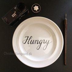 @christinakorsgaard.dk #inktober2016 #inktoberviking #hungry for #montblanc and #pen #calligraphy #oneofakind