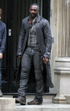 Facing the music: He was forced to cancel his DJ slot at Glastonbury due to his hectic filming schedule. But Idris Elba seemed to be at peace with his decision as he filmed The Dark Tower in Manhattan on Friday