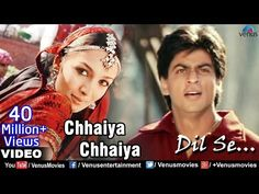 chaiya chaiya from Dil Se. I love Shah Ruk Khan Shahrukh Khan Family, Shahrukh Khan And Kajol, Shah Rukh Khan Movies, Hit Songs, Music Songs, My Music, English Hits, Bollywood Music Videos, Travel Songs