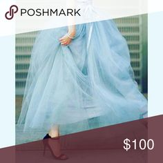 ☆Handmade Tulle Skirts~ANY Color Any size Tulle Skirt in Any Color, size or length... these skirts are so fun and so pretty... They are great for the upcoming spring and summer... They are especially pretty in photos... For example maternity photos, Studio sessions, an event or festival or even have one custom made into a formal gown! Dresses