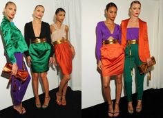 Gucci mixing bold colors. Gorgeous