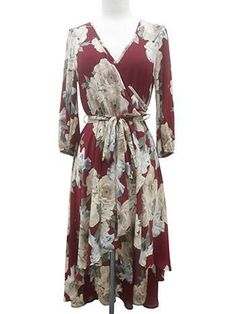 Burgandy Wrap Dress