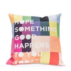 9 by Novogratz Hope Something Good Decorative Pillow - Walmart.com