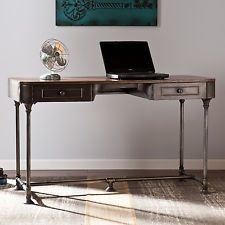 Nice design. Pricey $297. Ebay Rustic Writing Desk Home Office Furniture Workstation Metal Computer Industrial