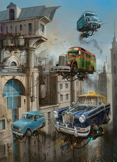 Flying Cars By Alejandro Burdisio